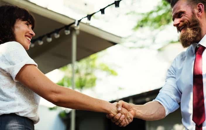 Kundensupport- Händeschütteln