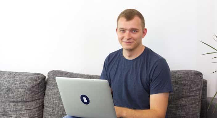 Mitarbeiter Michal in der Bitfactory