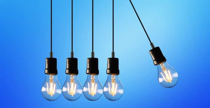 Effizienz Glühbirnen-Pendel