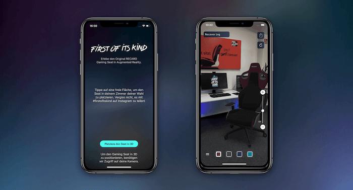 Augmented Reality RECARO AR App