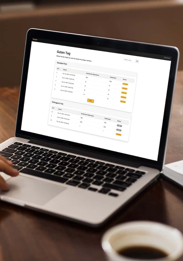 Vorschaubild PriSend web2print Software