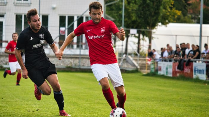 Trikotsponsoring Fußballspiel SV Eberhardzell