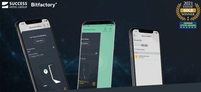 Stevie Award Gewinn Screenshots der MKey App